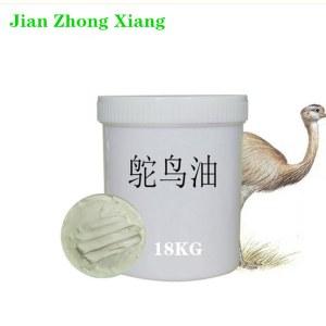 Cosmetic Raw Material High Quality Pure Ostrich Fat Australia Emu Oil Ostrich Oil for Beauty Care Skin Care 18KG/Drum