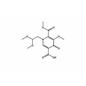 1-(2,2-dimethoxyethyl)-5-methoxy-6-(methoxy carbonyl)-4-oxo-1,4-dihydropyridine-3-carboxylic acid