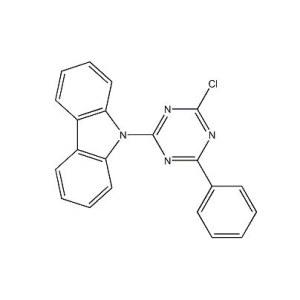 <em>9-</em>(4-chloro-6-phenyl-1,3,5-triazin-2-yl)-9H-carbazole