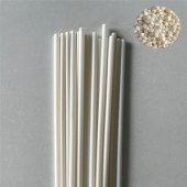 Fully biodegradable modified resin for heat resistant straw