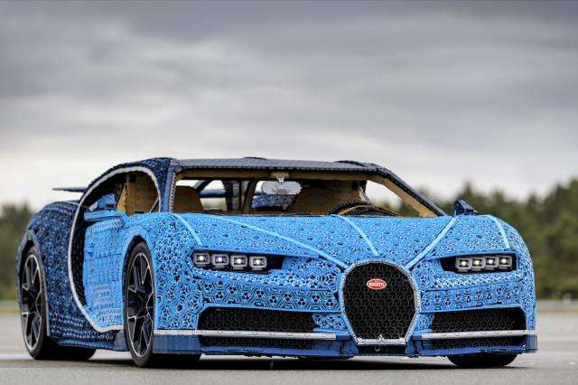 LEGO builds drivable, full-size Bugatti Chiron